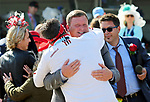 LOUISVILLE, KY - MAY 06: The Divisidero connections celebrates after winning the Woodford Reserve Turf Classic Stakes on Kentucky Derby Day at Churchill Downs on May 6, 2017 in Louisville, Kentucky. (Photo by Candice Chavez/Eclipse Sportswire/Getty Images)