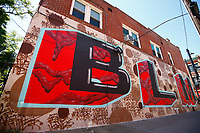 A Black Lives Matter mural in Garfield is shown on Monday June 8, 2020 in Pittsburgh, Pennsylvania. (Photo by Jared Wickerham/Pittsburgh City Paper)