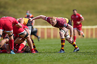 Carl BURGESS (19) of Ampthill during the Greene King IPA Championship match between Ampthill RUFC and Jersey Reds at Dillingham Park, Ampthill, England on 1 May 2021. Photo by David Horn.