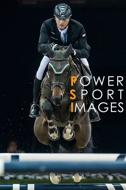 Marc Houtzager of Netherlands rides Baccarat in action during the Longines Grand Prix as part of the Longines Hong Kong Masters on 15 February 2015, at the Asia World Expo, outskirts Hong Kong, China. Photo by Victor Fraile / Power Sport Images
