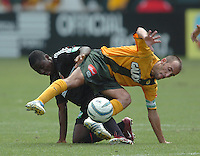 23 July  2005  Los Angeles Galaxy  Peter Vagenas vs D.C. United Freddy Adu at Carson, CA..Matt A. Brown/Icon SMI..