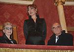 """ANNA FENDI CON SUSANNA E MARIO PESCANTE<br /> PRIMA DE """"LA TRAVIATA"""" TEATRO DELL'OPERA DI ROMA 2009"""
