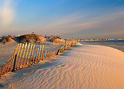 Sand dunes at Hampton Beach State Park at Hampton Beach, New Hampshire USA.