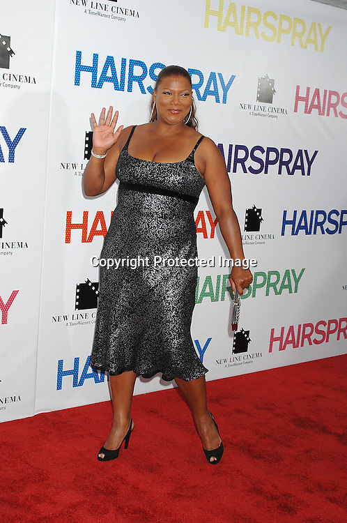 """Queen Latifah..arriving at the New York Premiere of """"Hairspray"""" on         July 16, 2007 at The Ziegfeld Theatre. ..Robin Platzer, Twin Images......212-935-0770"""