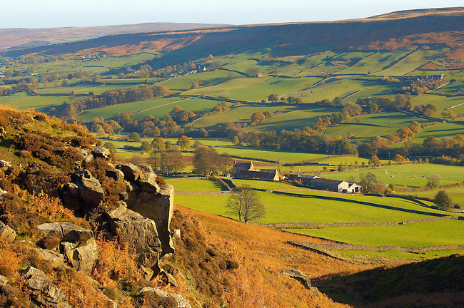 Danby Dale farm,  North Yorkshire Moors National Park, England.