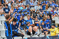 Supporters Club Brugge YLA pictured during a female soccer game between Club Brugge Dames YLA and Standard Femina de Liege on the first matchday of the 2021 - 2022 season of Belgian Scooore Womens Super League , saturday 21 August 2021in Aalter , Belgium . PHOTO SPORTPIX   DAVID CATRY