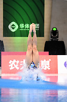 Japan's Rin Kaneto compete in the women's 10m platform semifinal A<br /> <br /> Photographer Hannah Fountain/CameraSport<br /> <br /> FINA/CNSG Diving World Series 2019 - Day 2 - Saturday 18th May 2019 - London Aquatics Centre - Queen Elizabeth Olympic Park - London<br /> <br /> World Copyright © 2019 CameraSport. All rights reserved. 43 Linden Ave. Countesthorpe. Leicester. England. LE8 5PG - Tel: +44 (0) 116 277 4147 - admin@camerasport.com - www.camerasport.com