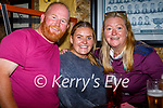Enjoying the evening in Sean Og's on Saturday, l to r: Dave Carney, Jade Donovan and Barbara Kelly.
