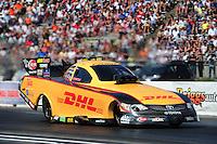 May 19, 2012; Topeka, KS, USA: NHRA funny car driver Jeff Arend during qualifying for the Summer Nationals at Heartland Park Topeka. Mandatory Credit: Mark J. Rebilas-