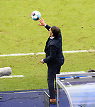 17.10.2020, OLympiastadion, Berlin, GER, DFL, 1.FBL, Hertha BSC VS. VfB Stuttgart, <br /> DFL  regulations prohibit any use of photographs as image sequences and/or quasi-video<br /> im Bild Cheftrainer Bruno Labbadia (Hertha BSC Berlin)<br /> <br />     <br /> Foto © nordphoto /  Engler