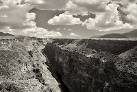 Rio Grande River and gorge near Taos, New Mexico.