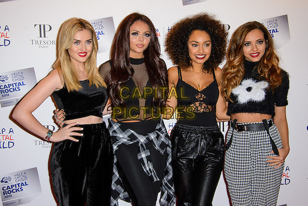 LONDON, ENGLAND - NOVEMBER 28: Little Mix ( Perrie Edwards, Jesy Nelson, Leigh Anne Pinnock & Jade Thirlwall ) attend the annual 'Capital Rocks' concert in aid of the 'Help a Capital child' charity at The Roundhouse on November 28, 2013 in London, England. <br /> CAP/CJ<br /> ©Chris Joseph/Capital Pictures