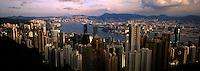 Majestic Hong Kong Harbor from Victoria Peak