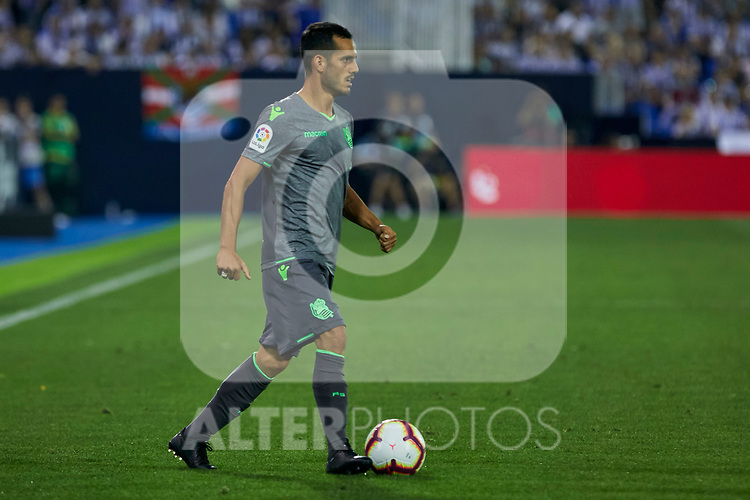 Real Sociedad's Joseba Zaldua during La Liga match. August 24, 2018. (ALTERPHOTOS/A. Perez Meca)