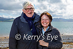 Enjoying a stroll in Fenit on Saturday, l to r: Dave Ramsey and Fionnuala Murphy.