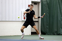 WINSTON-SALEM, NC - JANUARY 24: Cesar Bourgois of the University of Kentucky during a game between Kentucky and Penn State at Wake Forest Indoor Tennis Center on January 24, 2020 in Winston-Salem, North Carolina.