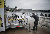 the pits washing area<br /> Krawatencross Lille 2017
