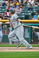 Brandon Drury (6) of the Reno Aces at bat against the Salt Lake Bees in Pacific Coast League action at Smith's Ballpark on July 18, 2015 in Salt Lake City, Utah. The Bees defeated the Aces 6-4. (Stephen Smith/Four Seam Images)