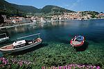 .Korcula island; Raisce harbour.Cruise in Croatia. Island of Dalmatia