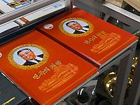 Bücher im Gebäude der Freundschaftsaustellung in den Myohyang-Bergen, Nordkorea, Asien<br /> books in building of friendship exhibition in Myoohyang-Mountains, North Korea, Asia