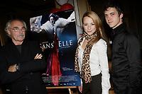 Montreal (QC) CANADA -Sept 18 2006-jEAN bEAUDIN, FILM MAKER (l), Maxim GaudettE, ACTOR, Karine Vanasse, actress in Jean Beaudin new movie ''