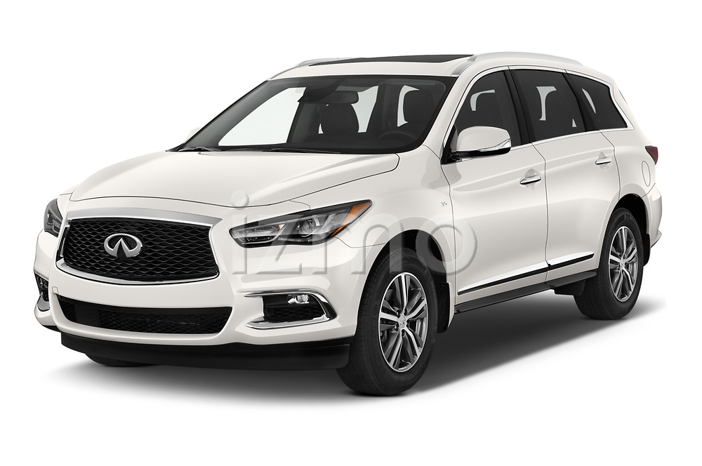 2020 Infiniti QX60 Pure 5 Door SUV Angular Front automotive stock photos of front three quarter view