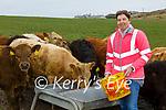 Bernadette O'Driscoll on the Farm at Valentia Island.