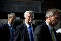 (In the middle) Michael Fallon MP (British Conservative politician and Secretary of State for Defence).<br />