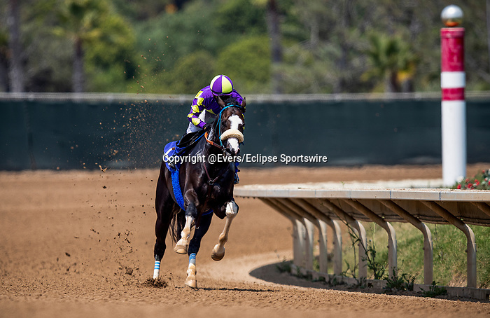 AUG 22: Kentucky Derby hopeful, Honor AP works out at Del Mar Thoroughbred Club with regular jockey Mike Smith aboard, in Del Mar, California on August 22, 2020. Evers/Eclipse Sportswire/CSM