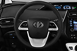 Car pictures of steering wheel view of a 2016 Toyota Prius Three Touring 5 Door Hatchback