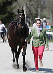 April 23, 2014: Fernhill Fearless and Kim Severson during the first horse inspection at the Rolex Three Day Event in Lexington, KY at the Kentucky Horse Park.  Candice Chavez/ESW/CSM