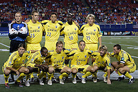 The Crew's starting lineup. The Columbus Crew and the MetroStars played to a 1-1 tie in regular season MLS action on Saturday October 9, 2004 at Giant's Stadium, East Rutherford, NJ..