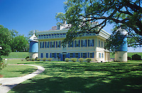 The exterior of the San Francisco plantation house and grounds. Vacherie, Louisiana.