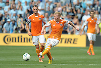 Andrew Driver (20) midfield Houston Dynamo in action..Sporting Kansas City and Houston Dynamo played to a 1-1 tie at Sporting Park, Kansas City, Kansas.