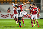 Players in action during the 4th game of group G between South China and Yangon United at Mongkok Stadium on April 02, 2014 in Hong Kong, China. Photo by Xaume Olleros / Power Sport Images
