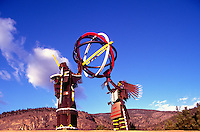 Oliver, BC, South Okanagan Valley, British Columbia, Canada - Metal Indian Sculpture