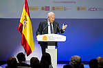 """Jose Manuel Garcia-Margallo during the 6th edition of the collecting badges to the new ambassadors fees """"Marca España"""" in his 6th edition at BBVA City in Madrid, November 12, 2015.<br /> (ALTERPHOTOS/BorjaB.Hojas)"""