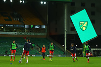 3rd November 2020; Carrow Road, Norwich, Norfolk, England, English Football League Championship Football, Norwich versus Millwall; Millwall players perform drills during the warm up