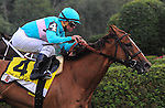 Dacita (BRZ), ridden by Javier Castellano and trained by Chad Brown, wins the 27th running of the grade 2 Ballston Spa Stakes for older mares on August 29, 2015 at Saratoga Race Course in Saratoga Springs (Sophie Shore/Eclipse Sportswire)
