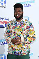 LONDON, UK. June 08, 2019: Khalid poses on the media line before performing at the Summertime Ball 2019 at Wembley Arena, London<br /> Picture: Steve Vas/Featureflash