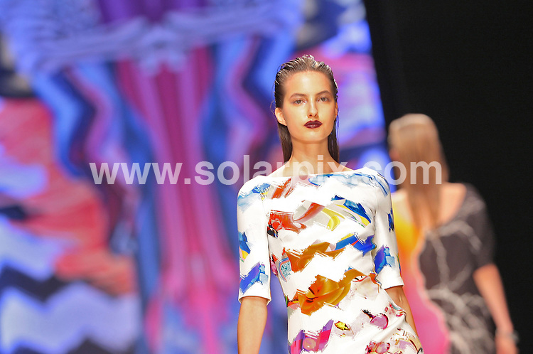 **ALL ROUND PICTURES FROM SOLARPIX.COM**.**NO UK NEWSPAPER PUBLICATION**.**UK MAGAZINE & SUPPLEMENT PUBLICATION ONLY** AND NO PUBLICATION IN AUSTRALIA, GERMANY, ITALY AND SCANDINAVIA** .The Basso & Brooke catwalk show at London Fashion Week.JOB REF:  10006     SFE       DATE:   22.09.09.**MUST CREDIT SOLARPIX.COM OR DOUBLE FEE WILL BE CHARGED**.**MUST NOTIFY SOLARPIX OF ONLINE USAGE**.**CALL US ON: +34 952 811 768 or LOW RATE FROM UK 0844 617 7637**