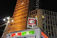 - Milan, phone booth in Diaz square....- Milano, Puntotel Telecom in piazza Diaz
