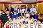 Kilcummin GAA Social night in the Avenue Hotel, Killarney last Friday night. Pictured are front l-r Johnnie Brosnan, Catherine Brosnan, Eugene McSweeney (chair person of Kilcummin GAA), Linda McSweeney and Carmel O'Riordan, back l-r Siobhan Brosnan, Tim Moynihan, Tim Casey, Ciara Kelly, Darragh Kelly and Mike O'Riordan.