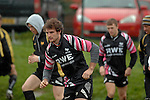 Ben Lewis during the Ospreys rugby training session today at Llandarcy Academy of Sport near Neath ahead of their Heineken Cup game with Viadana this coming weekend.
