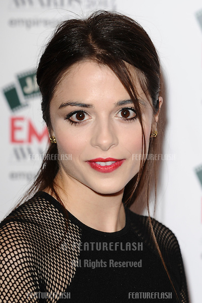 Stephanie Leonidas<br /> arives for the Empire Magazine Film Awards 2014 at the Grosvenor House Hotel, London. 30/03/2014 Picture by: Steve Vas / Featureflash