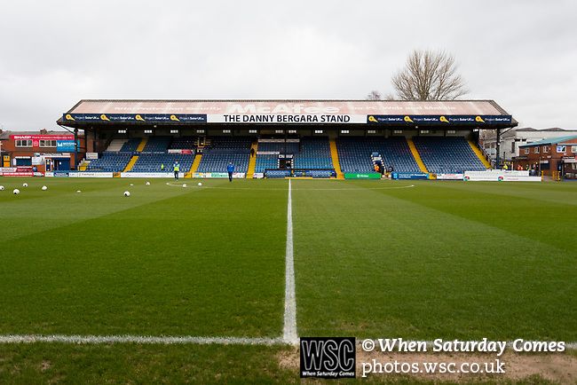 The Danny Bergara Stand. Stockport County v Barnet, 07032020. Edgeley Park, National League. Photo by Paul Thompson.