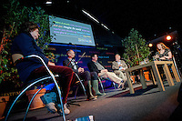 Tuesday 27 May 2014, Hay on Wye, UK<br /> Pictured: ( L-R )  Baroness Kay Andrews, John Griffiths, John Gower and Rachel Tresize<br /> Re: The Hay Festival, Hay on Wye, Powys, Wales UK.
