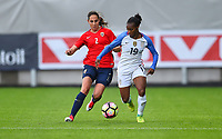 Sandefjord, Norway - June 11, 2017: Crystal Dunn during their game vs Norway in an international friendly at Komplett Arena.