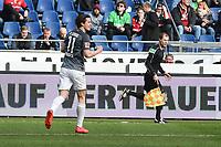 bei Michael Gregoritsch (FC Augsburg #11)<br /><br /><br /><br />, Hannover 96 - FC Augsburg, Football, Bundesliga, 10.03.2018 *** Local Caption *** © pixathlon<br /> Contact: +49-40-22 63 02 60 , info@pixathlon.de