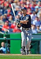 24 September 2012: Milwaukee Brewers outfielder Norichika Aoki in action against the Washington Nationals at Nationals Park in Washington, DC. The Brewers fell 12-2 to the Nationals in the final game of their 4-game series, splitting the series at two. Mandatory Credit: Ed Wolfstein Photo